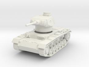 panzer III F scale 1/100 in White Natural Versatile Plastic