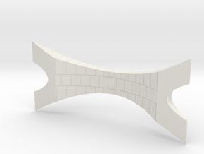 Miniature Da Vinci Bridge V4 - 10 cm in White Natural Versatile Plastic