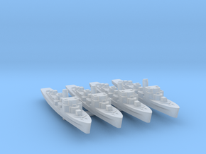 4pk German M1943 Minesweeper 1:1200 WW2 in Smooth Fine Detail Plastic