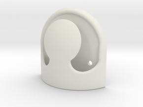 Cleat hook single horn in White Natural Versatile Plastic