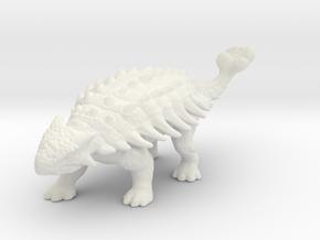 Ankylosaurus dinosaur miniature fantasy games dnd in White Natural Versatile Plastic