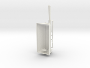 1/64th Pro Force 1850 Fertiizer Spreader separated in White Natural Versatile Plastic