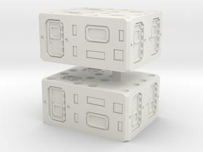 Modular Container Medium Hab unit 1 to 285 in White Natural Versatile Plastic