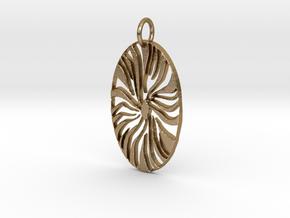 Ellipse in Polished Gold Steel