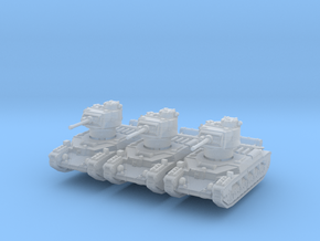 Matilda II (early) (x3) 1/200 in Smooth Fine Detail Plastic