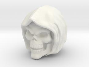 Skeletor Cartoon/Filmation head Origins (hollow) in White Natural Versatile Plastic