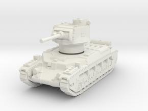 Matilda II (mid) 1/100 in White Natural Versatile Plastic