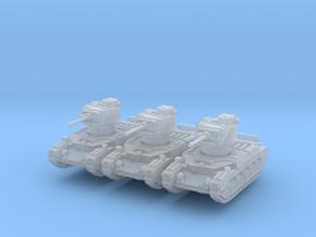 Matilda II (mid) (x3) 1/220 in Smooth Fine Detail Plastic