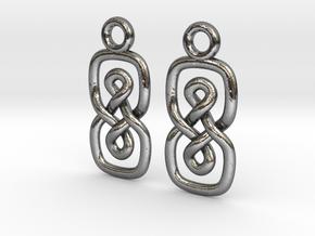 Eight loop [earrings] in Polished Silver