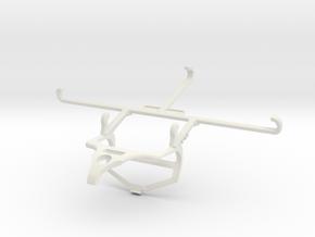 Controller mount for PS4 & T-Mobile REVVL V+ 5G -  in White Natural Versatile Plastic
