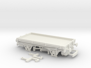 HO/OO scale 1 plank wagon Bachmann  in White Natural Versatile Plastic