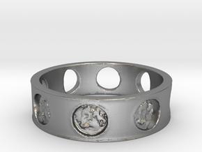 Jillian's Moon Ring in Natural Silver: 6.5 / 52.75