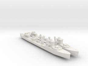 2pk sprue HMS Vega V-class destroyer 1:900 WW2 in White Natural Versatile Plastic