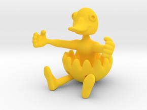Duckman in Yellow Processed Versatile Plastic: Medium
