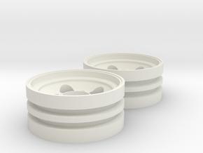 Custom RC Wheel  for Tamiya Grasshopper (Front) in White Natural Versatile Plastic