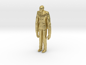 Slenderman 1/60 miniature for games and rpg horror in Natural Brass