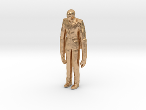 Slenderman 1/60 miniature for games and rpg horror in Natural Bronze
