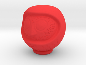 Daruma Doll 001 in Red Strong & Flexible Polished