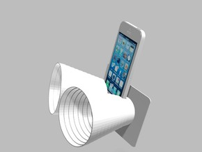 iPhone5 Stereo Acousticup Collapsible Amplifier in White Natural Versatile Plastic