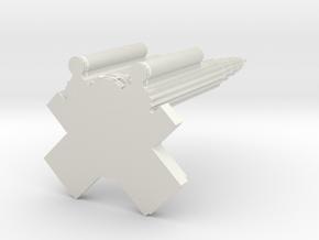 Miniature Petronas Twin Tower KLCC - 10cm in White Natural Versatile Plastic: 1:1000
