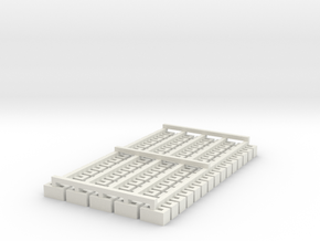 Cinder Block Loose 75 Pack 1-87 HO Scale in White Natural Versatile Plastic