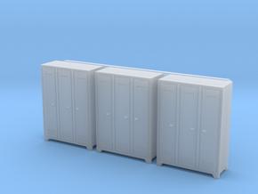 1:64 Locker 3pc in Smooth Fine Detail Plastic