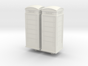 UK Phone Booth (x2) 1/100 in White Natural Versatile Plastic