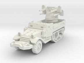 M17 AA Half-Track 1/87 in White Natural Versatile Plastic