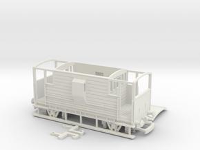 HO/OO LMS 20-ton Brake Van v1 Bachmann in White Natural Versatile Plastic