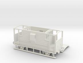 HO/OO LMS 20-ton Brake Van v1 Chain in White Natural Versatile Plastic