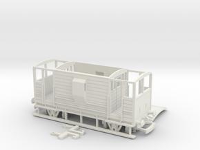 HO/OO LMS 20-ton Brake Van v4 Bachmann in White Natural Versatile Plastic