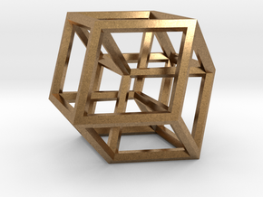 Hypercube B in Raw Brass