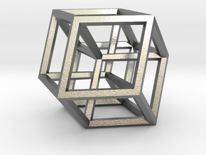 Hypercube B in Natural Silver
