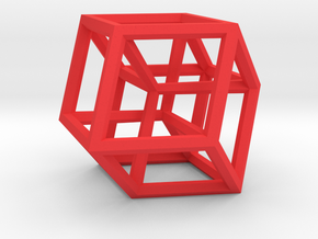 Hypercube B in Red Strong & Flexible Polished