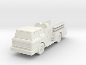 Fire Truck II - HOscale in White Natural Versatile Plastic