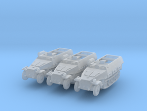 Sdkfz 251/8 D Ambulance (x3) 1/220 in Smooth Fine Detail Plastic