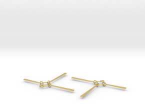 Valencia Earrings in Polished Brass (Interlocking Parts)
