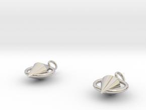 Asa Earrings in Rhodium Plated Brass