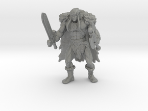 King Grayskull 60mm miniature model fantasy games in Gray PA12