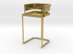 Miniature Luxury Vintage Bar Stool in Natural Brass