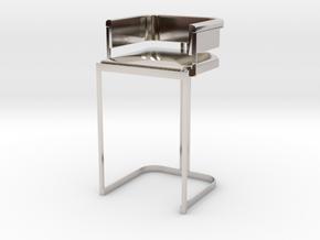 Miniature Luxury Vintage Bar Stool in Platinum