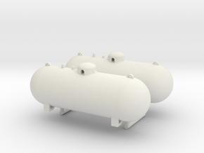 1/50th 500 Gallon Propane tanks in White Natural Versatile Plastic