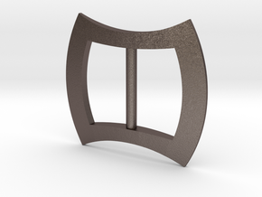 bracer buckle scaled in Polished Bronzed-Silver Steel