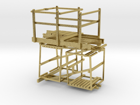 VR Pin Arch Platform Set #1 1:87 Scale in Natural Brass