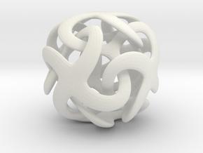 KDo Metatrino bead 0.075.2cm in White Natural Versatile Plastic