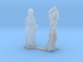 S Scale Old Lady and Young Dancer in Smooth Fine Detail Plastic