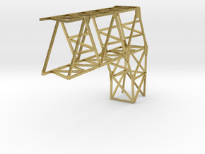 VR Pin Arch 4 Track Part #5 (Brass) 1:87 Scale in Natural Brass