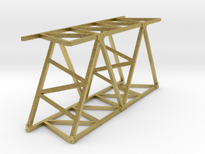 VR Pin Arch 4 Track Part #3 (Brass) 1:87 Scale in Natural Brass