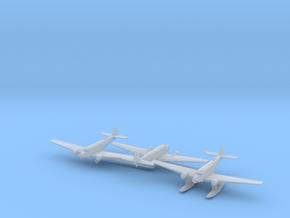 Ju 52 x3 (WW2) in Smooth Fine Detail Plastic: 1:700