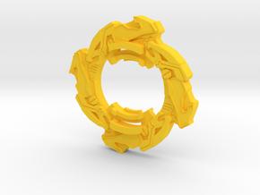 Beyblade Capricorn g strike /Ariel2 attack ring  in Yellow Processed Versatile Plastic